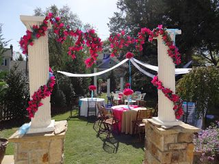 greek themed bridal shower fun for a honeymoon travel themed shower if that is where the couple is taking their honeymoon