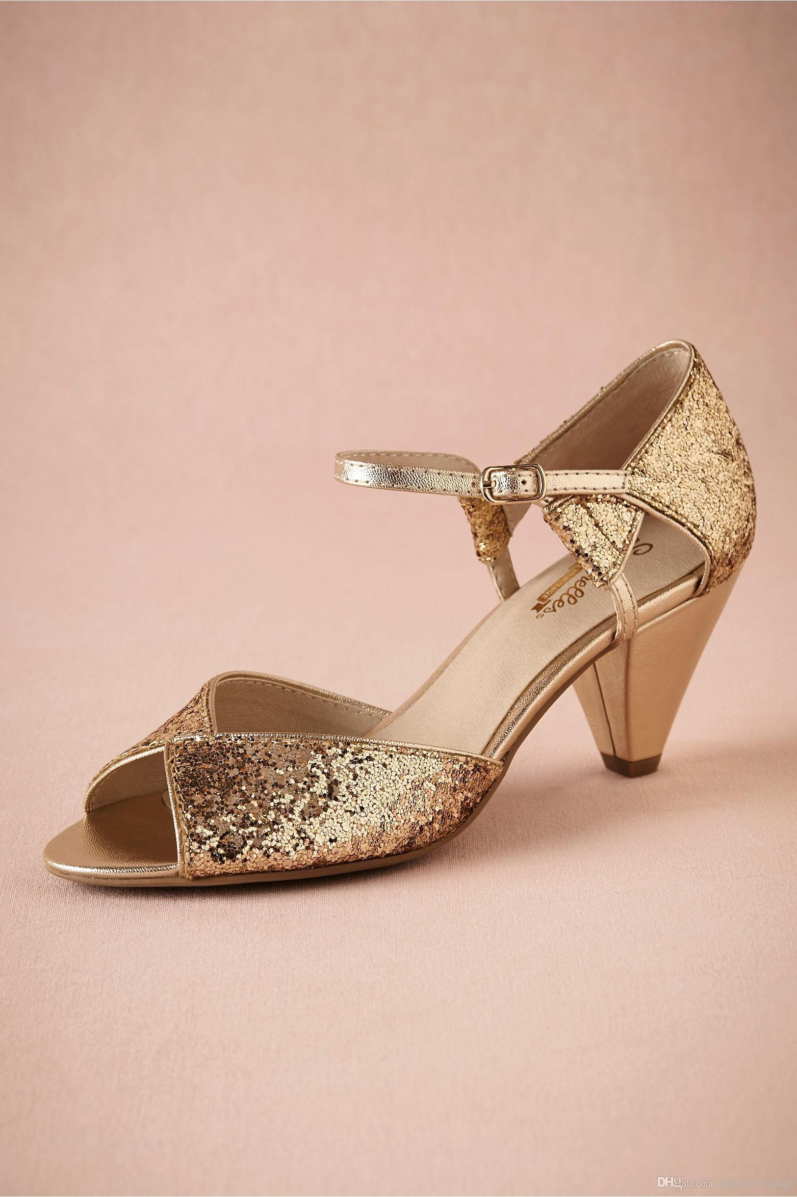 Gold Glitter Spark Wedding Shoe Handmade Pumps Leather Sole Comfortable Pumps Toe 2.5 Leather Wrapped Cone Heels Women Sandals Dance Shoes Wedding Shoes Glittery Maids Wedding Shoes GOLD Bridal Shoes Online with 86.86/Pair on Arrowma's Store | DHgate.com