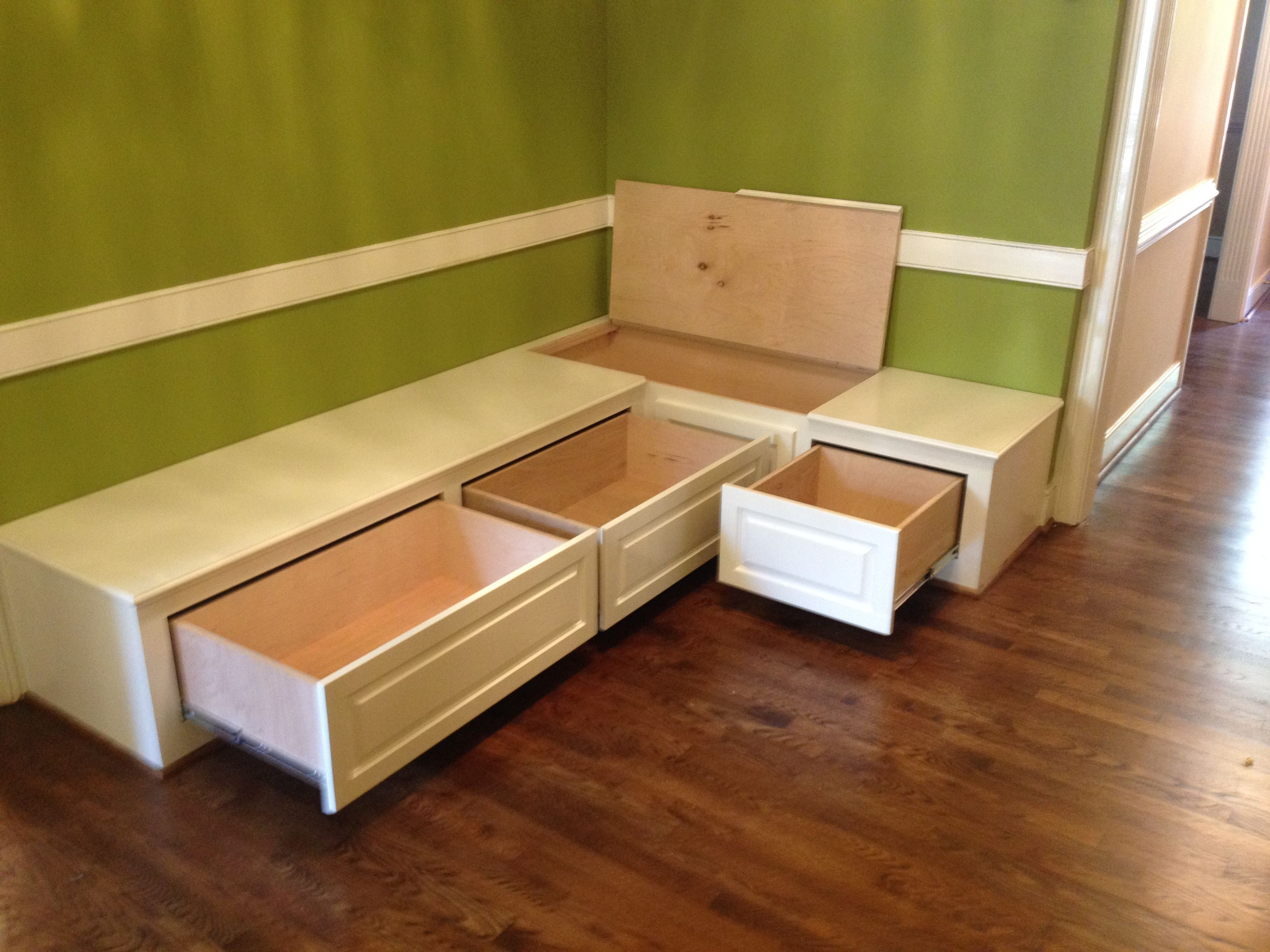 dining room bench seating with hidden storage wood