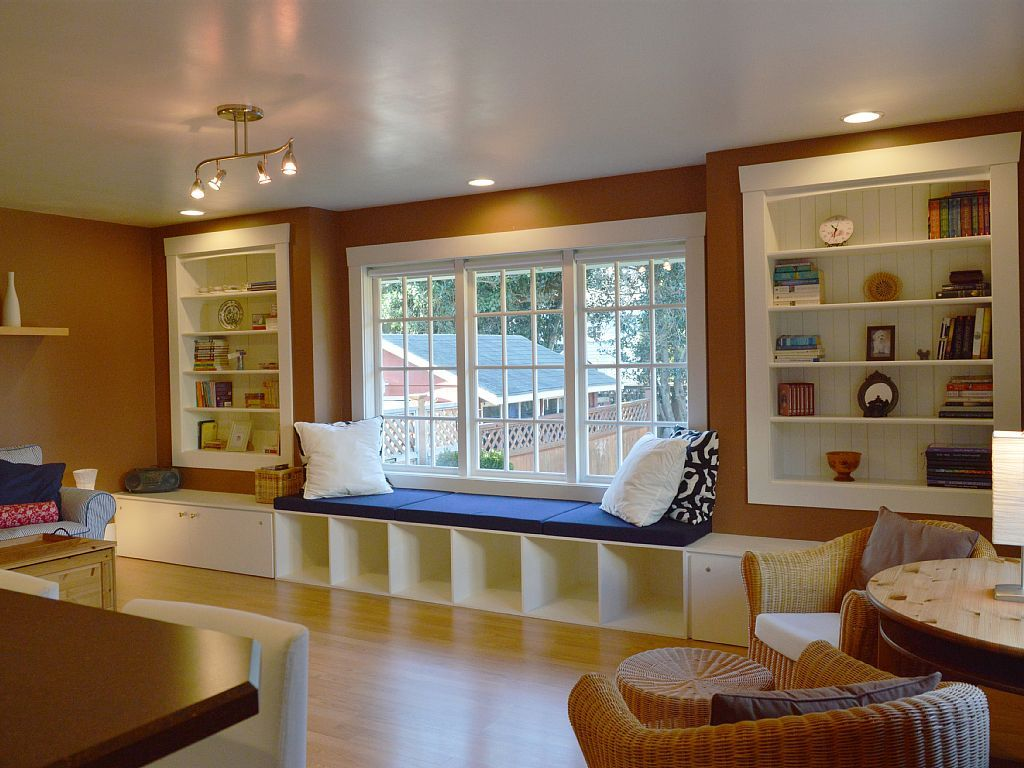Window Sitting Area bay window - seating and storage | bay windows | pinterest