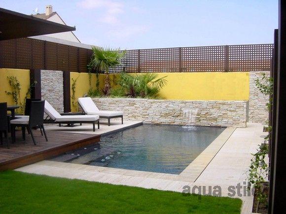 Aquastilo piscinas pinterest piscinas piletas y for Casas pequenas con piscina
