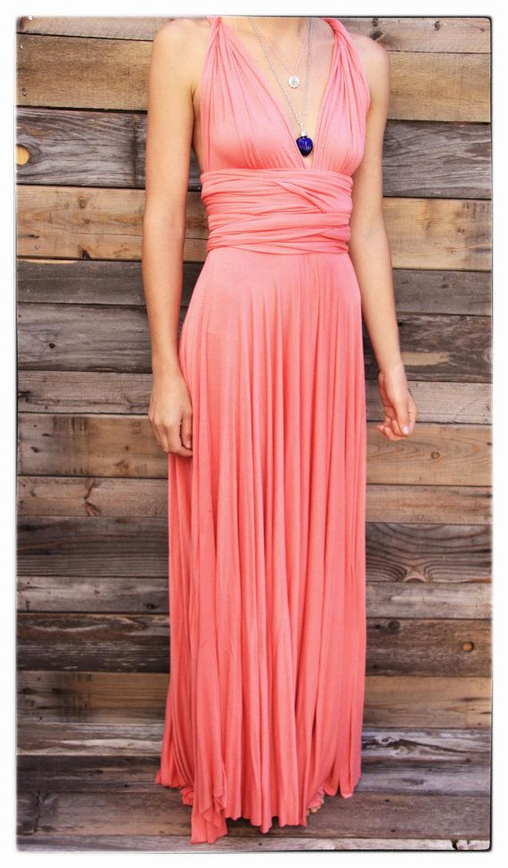 Wrap Dress in Maxi Length Infinity Summer Dress - Made to Order ...