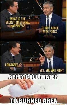 Mr. Bean not giving a fuck