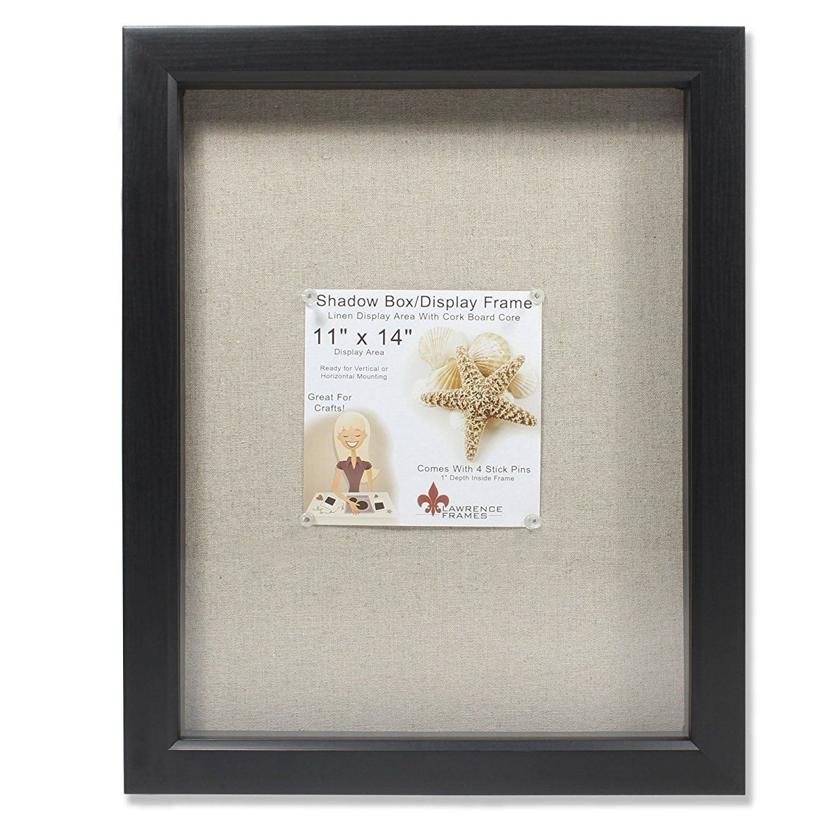 Black Shadow Box Frame Linen Inner Display Board Lawrence Frames Shadow Box Frames Box Frames