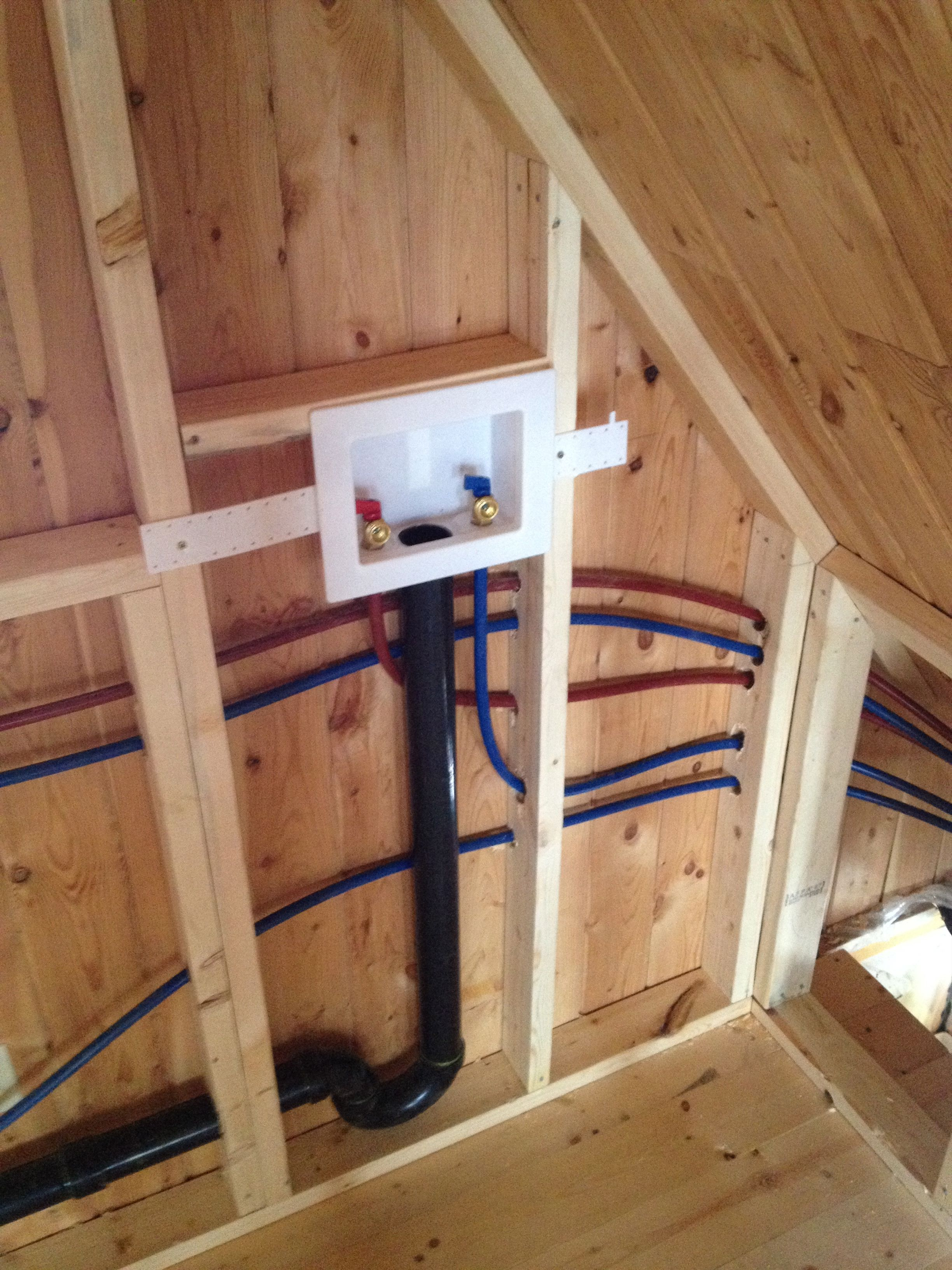 attic plumbing diagram baldor motor wiring diagrams 1 phase rough in completed throughout the cabin