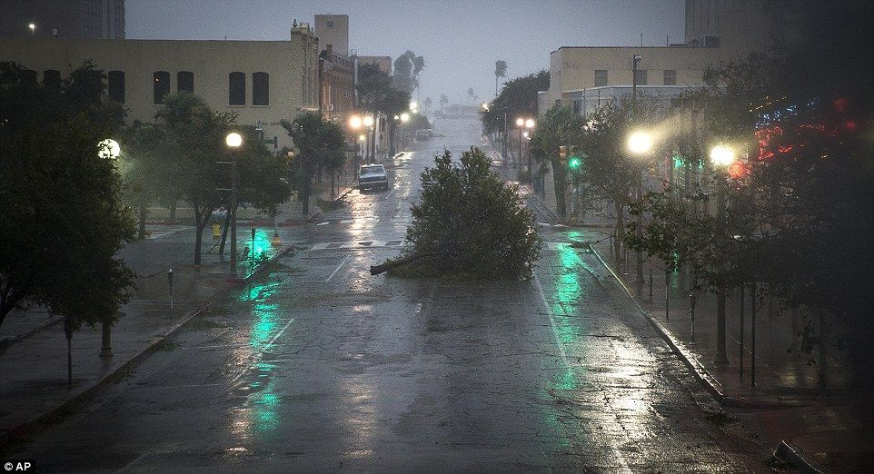 Hurricane Harvey hits Texas with 130mph winds Flood