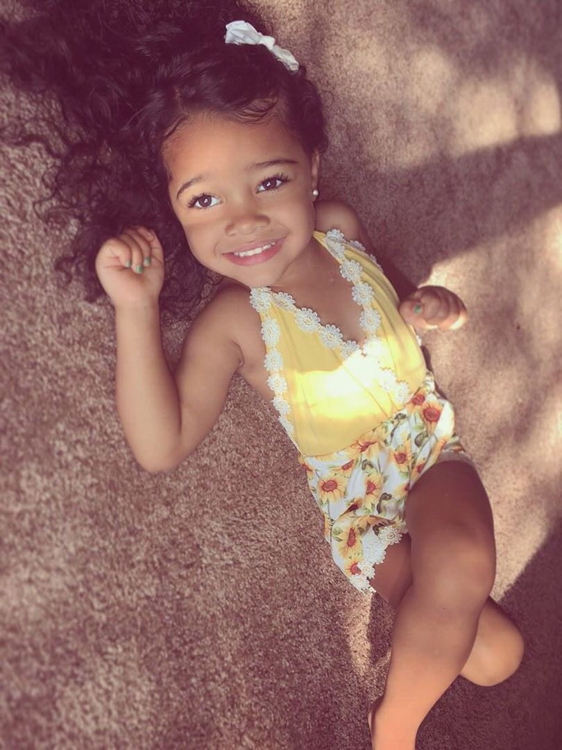 Maleah 3 Years African American French Scandinavian Polish English Irish Afroamerikanerinnen Franzosisch Afro