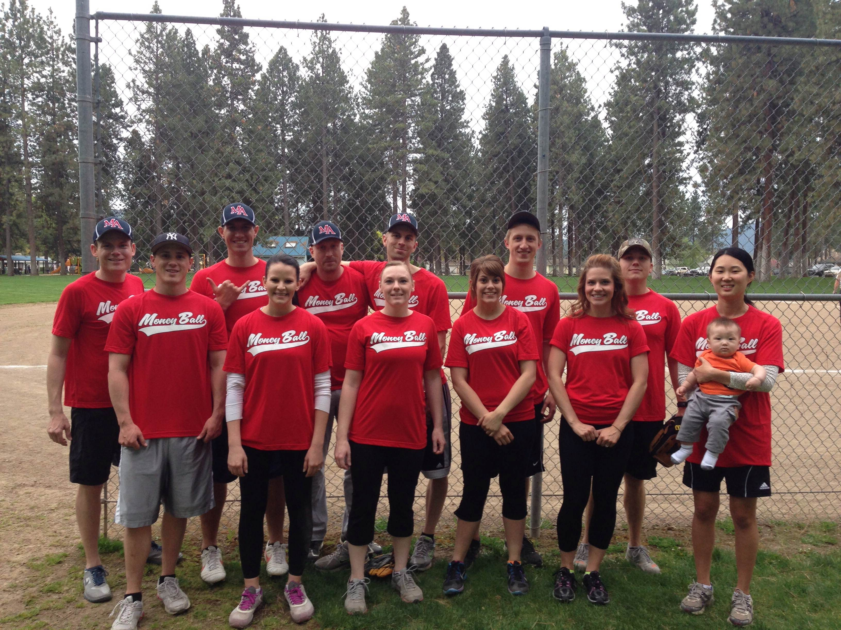 Moss Adams Spokane has fun playing softball together!