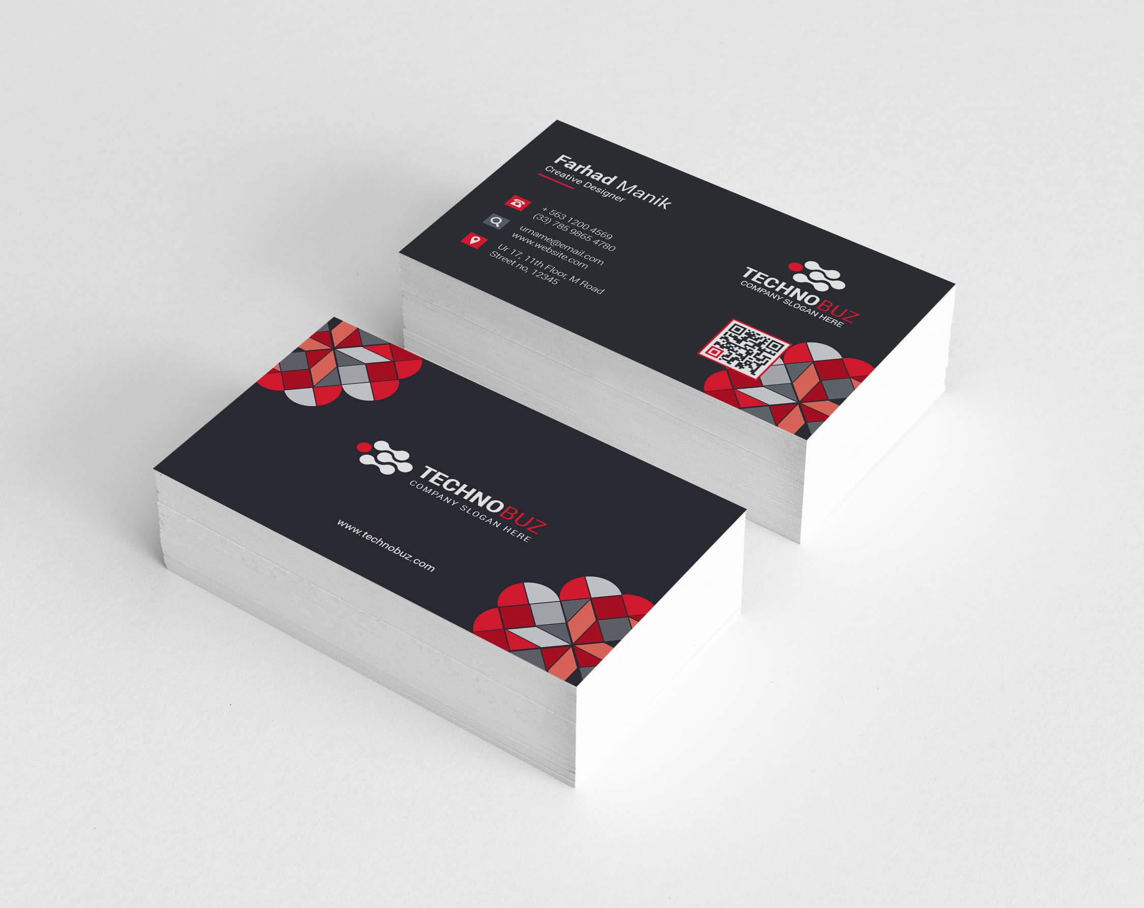 Hermes Creative Corporate Business Card Template Business Card