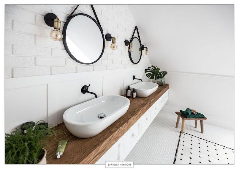 Znalezione Obrazy Dla Zapytania Kinkiet Do Lazienki Round Mirror Bathroom Bathroom Interior Design Bathroom Interior