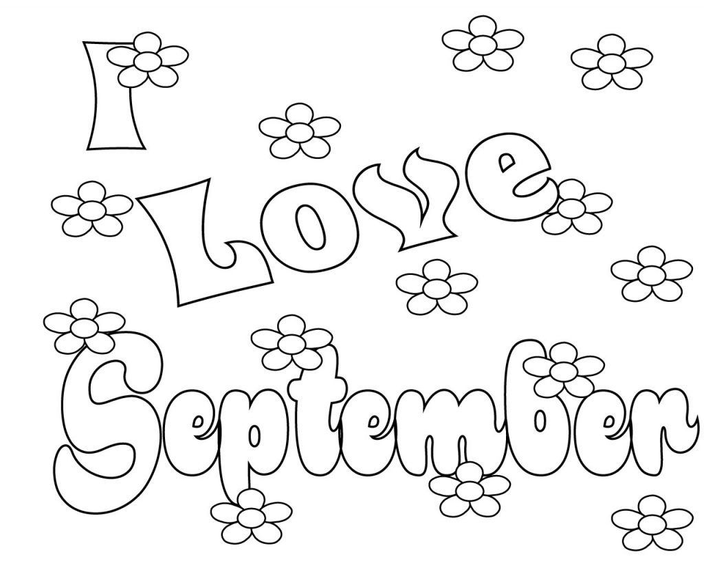 September Coloring Pages Coloring pages, School coloring