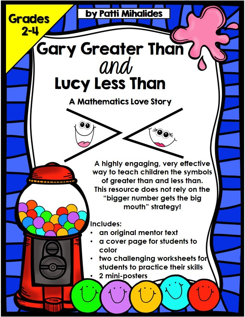 Greater Than Less Than Fun With Gary And Lucy A Mathematics Love Story How To Memorize Things Teaching Mentor Texts