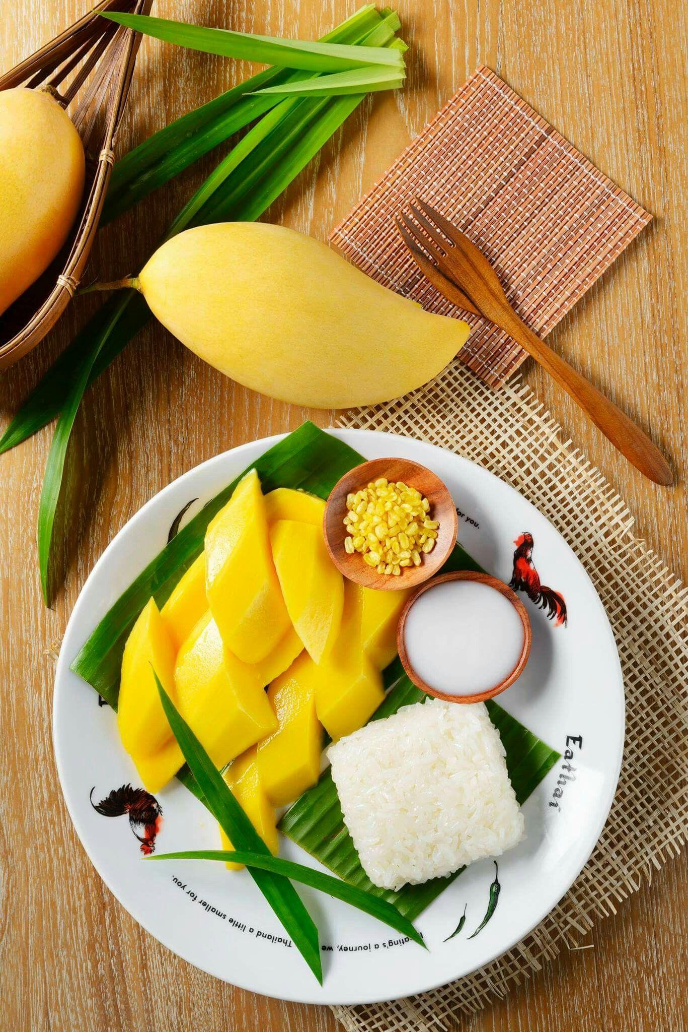 ข้าวเหนียวมะม่วง Khao Niaow Ma Muang - Mango Sticky Rice ...