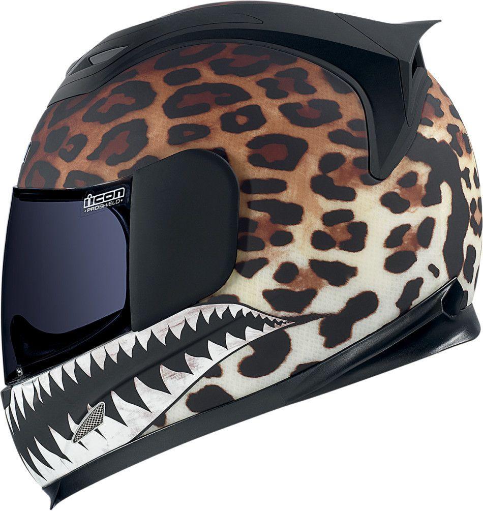 91a8c3cb4569 Ladies leopard print motorcycle full face helmet