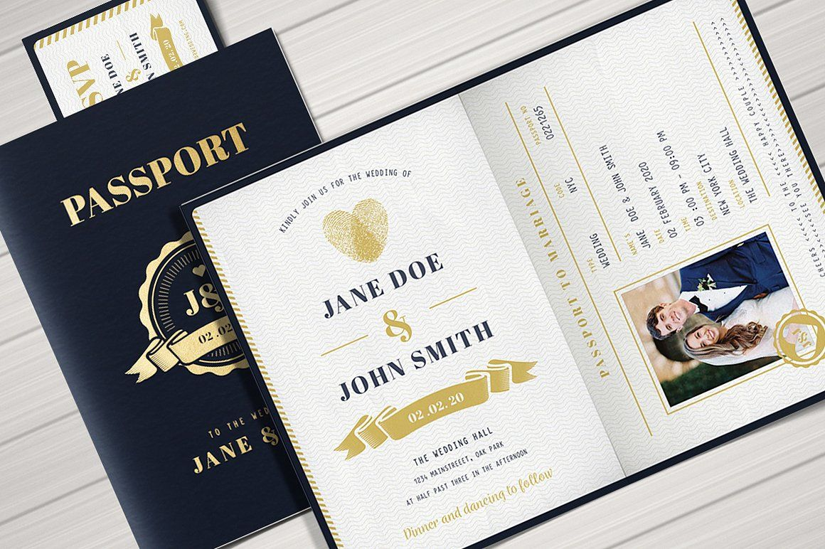 Passport Wedding Invitation Passport Wedding Invitations Passport Invitation Template Passport Invitations