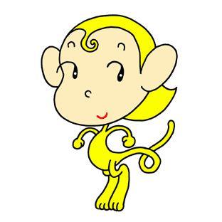 Monkey cartoon character - Little yellow monkey