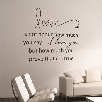 Adesivo murale prove your love frasi romantiche - Decorazioni muro ikea ...