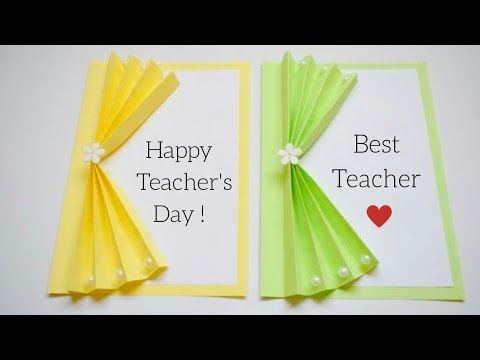 Easy & Beautiful Teacher's Day Card | Handmade Teacher's Day Card | Cute Ideas for Teacher's Day - YouTube #teachersdaycard