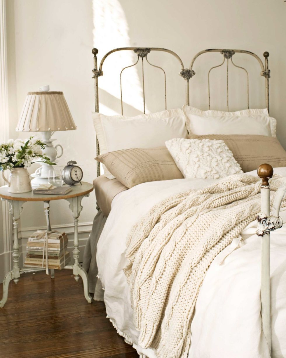 These Warm Paint Color Ideas Will Make Your Home Feel Extra Cozy Cream And White Bedroom White Bedroom Design White And Beige Bedroom Beige bedroom decorating ideas