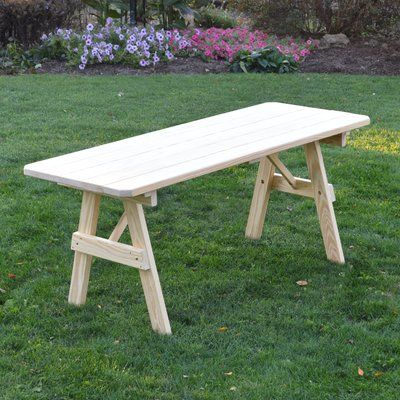 Loon Peak Sardinia Pine Picnic Table Finish Unfinished Picnic - Picnic table finish