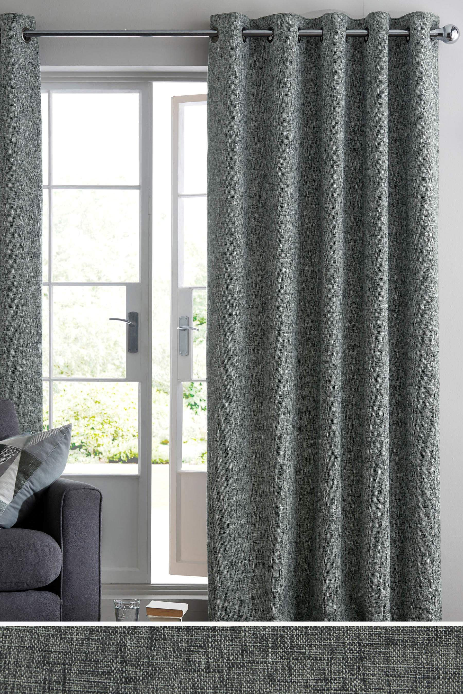 Buy bouclé blend eyelet curtains from the next uk online shop