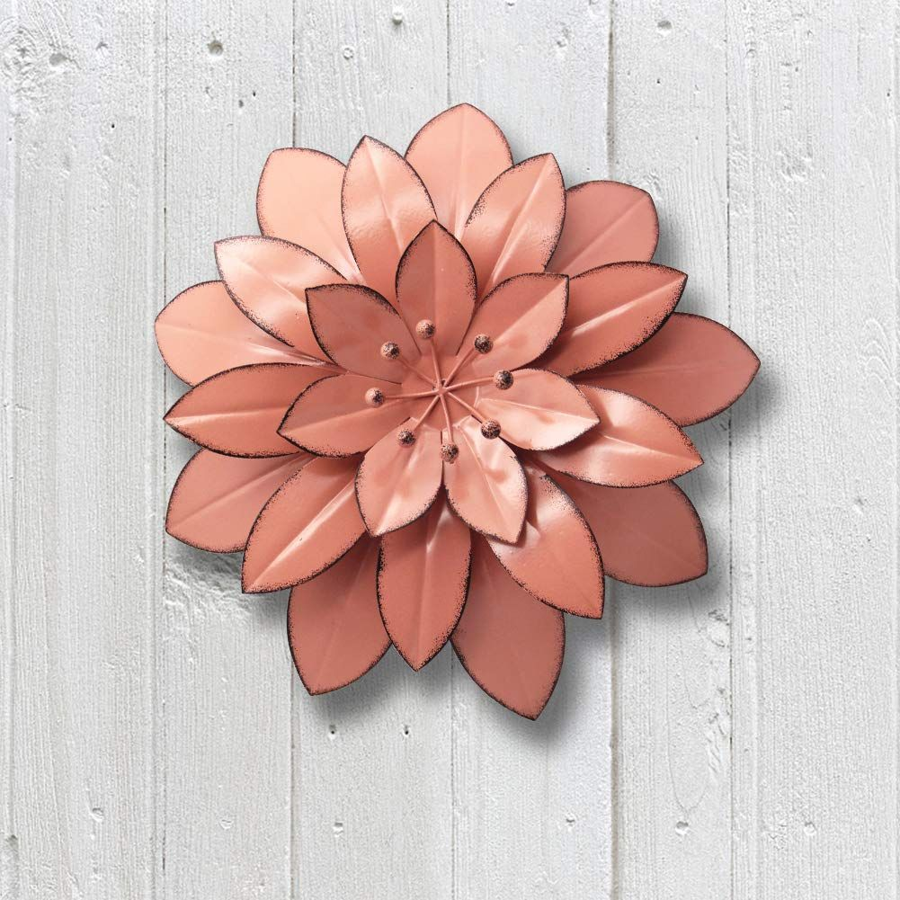Juegoal 11 5 Large Metal Flower Wall Art Decor For Indoor Outdoor