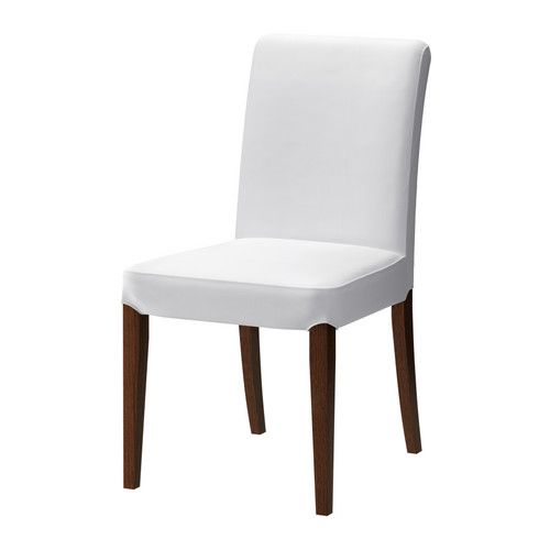 Henriksdal Chair With Long Cover Birch Blekinge White  Solid Pleasing Ikea Dining Room Chairs Sale Decorating Design