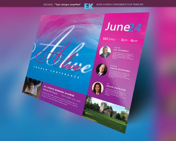 Alive Church Conference Flyer @creativework247 Flyer Templates - microsoft templates for flyers