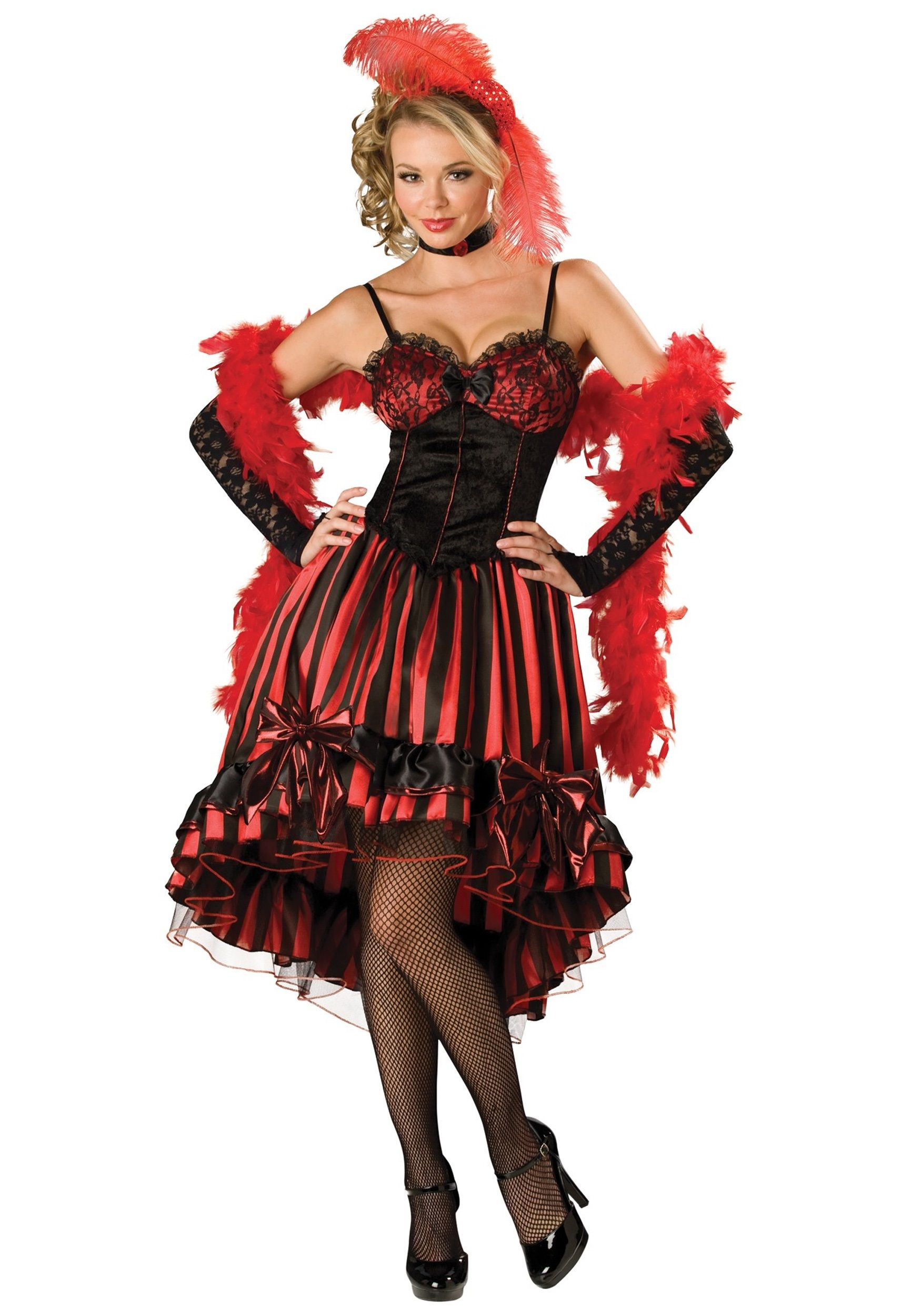 dress for your next party or enjoy halloween fun as the elite adult can can cutie saloon girl costume - Can Can Dancer Halloween Costume