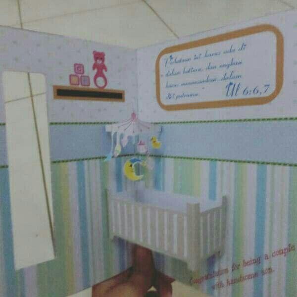 Kartu Ucapan Selamat Melahirkan Pop Card Baby Born Popcard Card