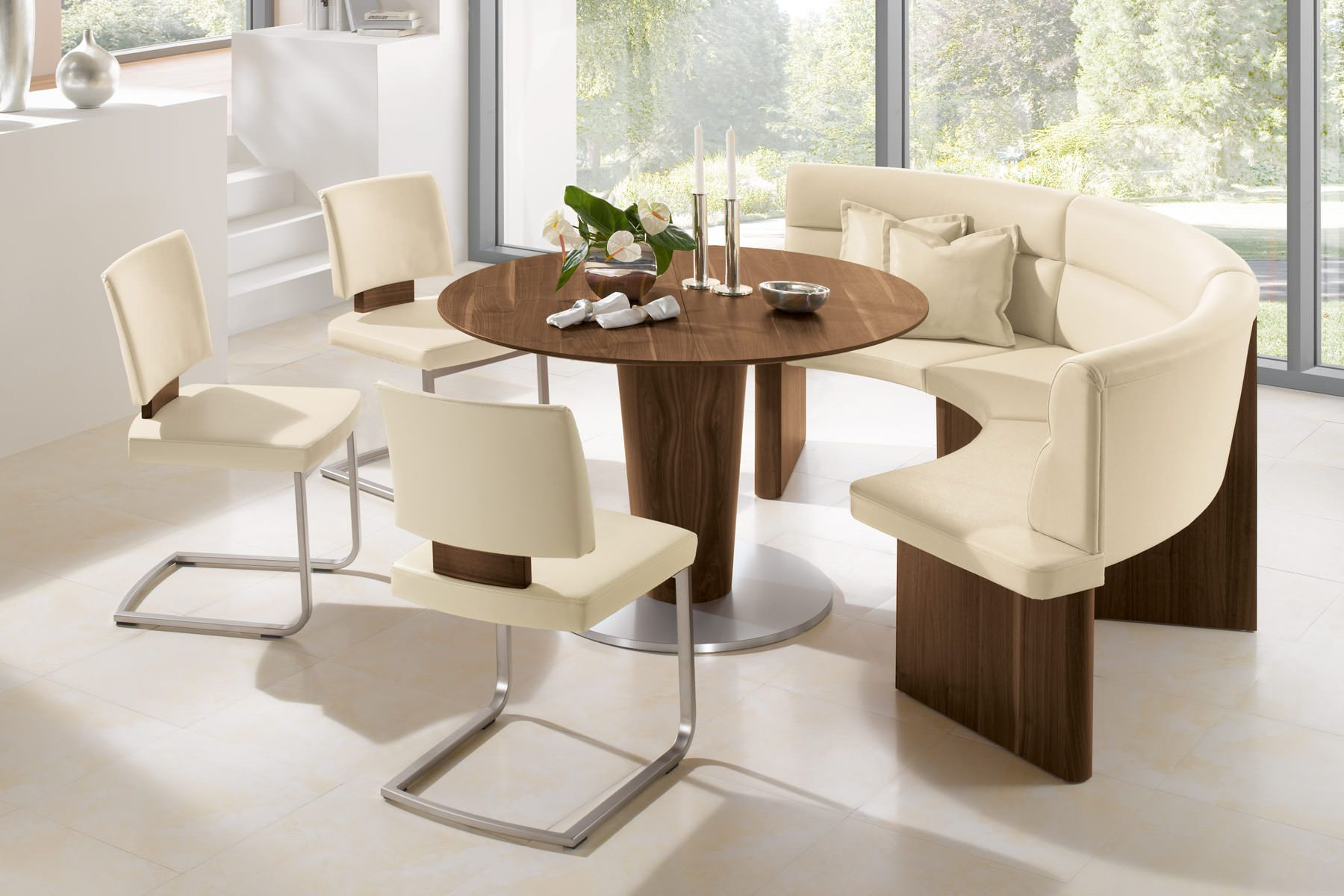 Scan Design Salita Pedestal Dining Table With Leaves Product