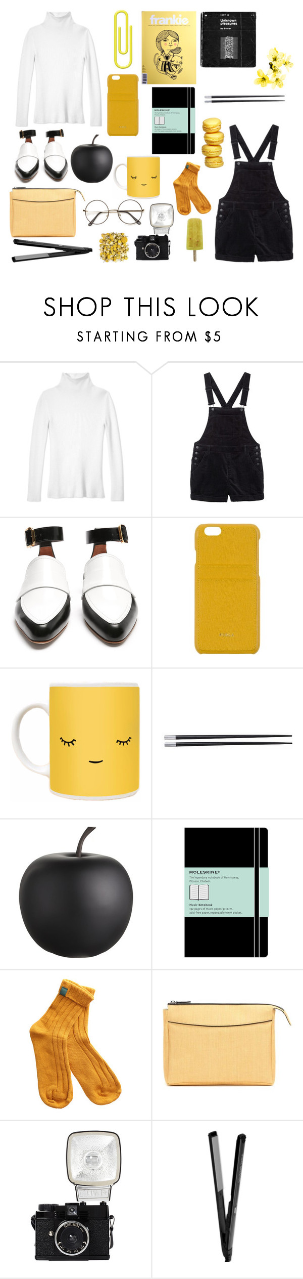 """""""Outfit #44"""" by anam53046 ❤ liked on Polyvore featuring Les Copains, Monki, Marni, Furla, Typhoon, CB2, Moleskine, The Row and Lomography"""