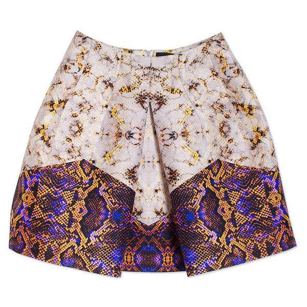 Mini Skirt Gold Snake ($690) ❤ liked on Polyvore
