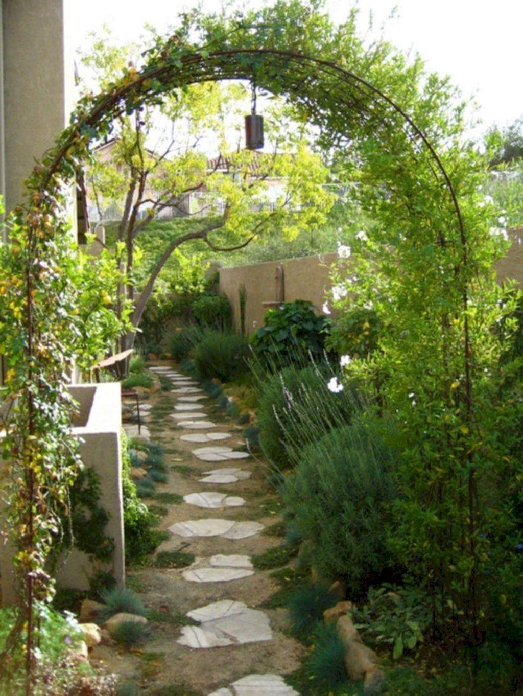 60 Fabulous Garden Path And Walkways Ideas Doitdecor Garden Arch Small Garden Design Garden Archway