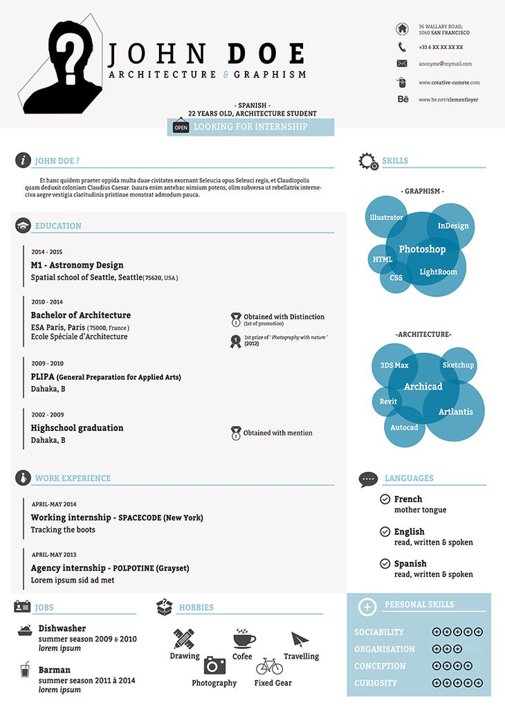 free psd resume template preview top resumes pinterest