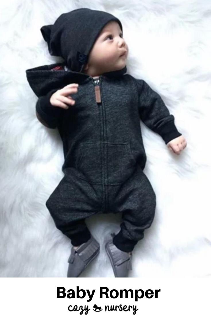 Photo of Baby Boy Warm Long Sleeve Romper