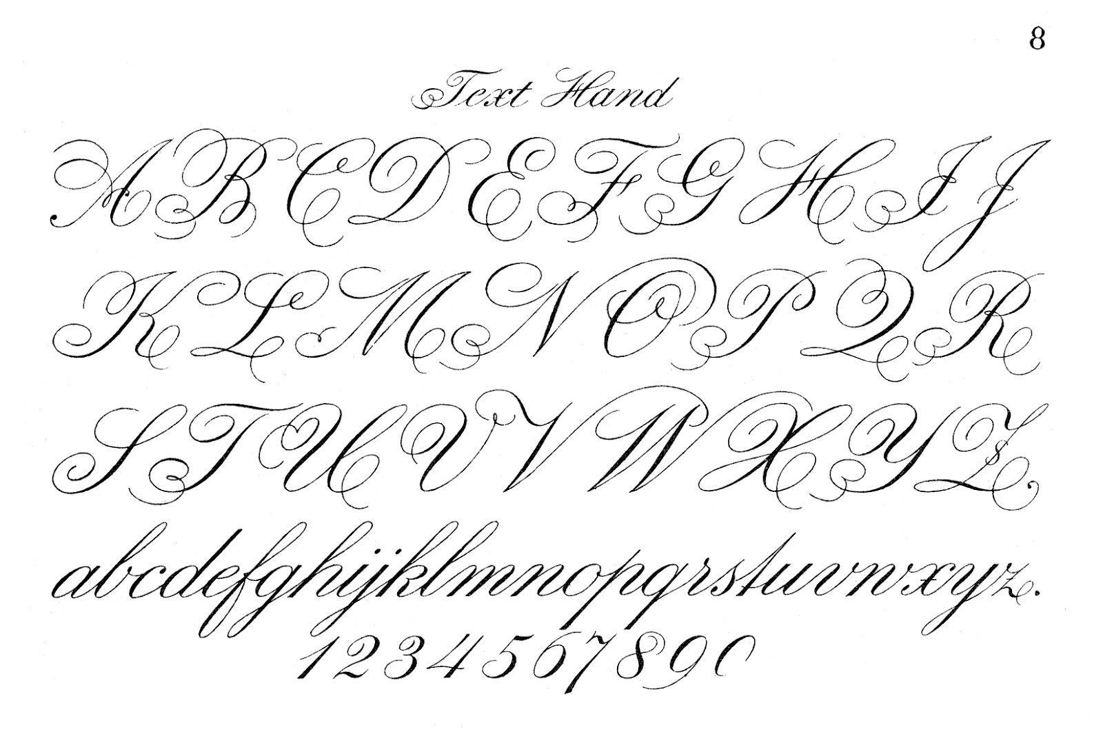 Fancy Cursive Writing Alphabet