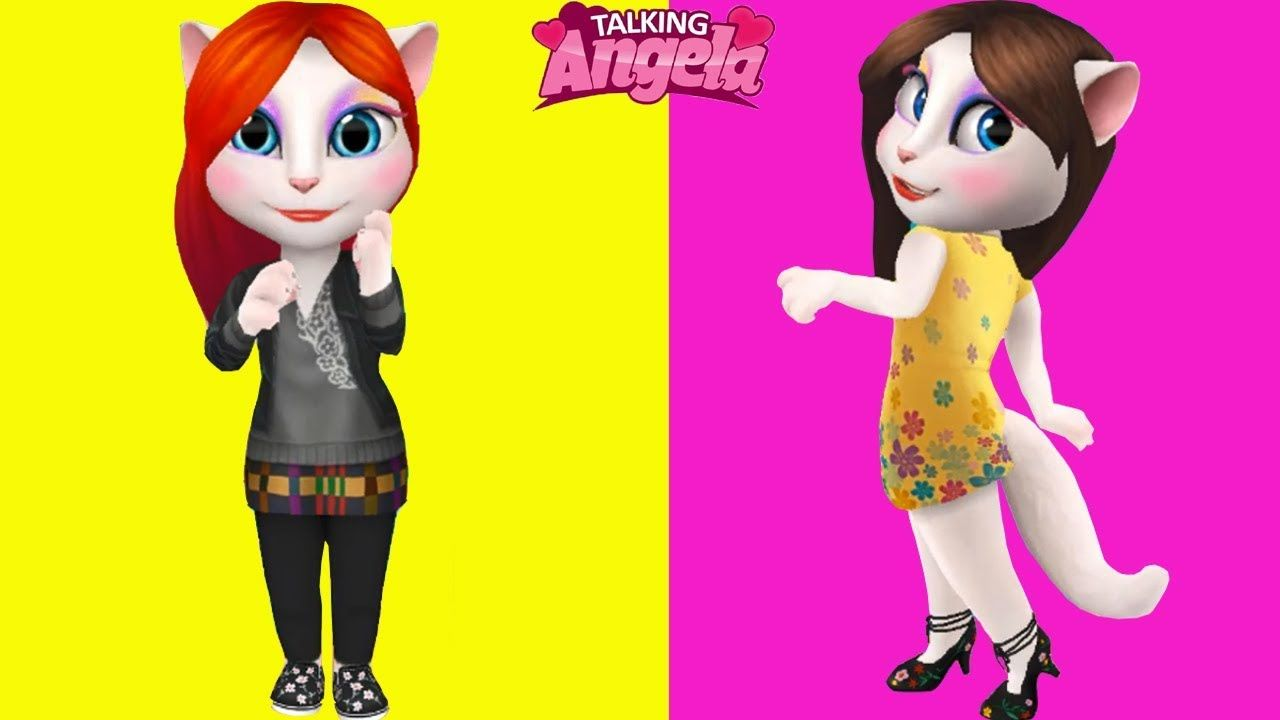 My Talking Angela Adult vs My Talking Angela Adult