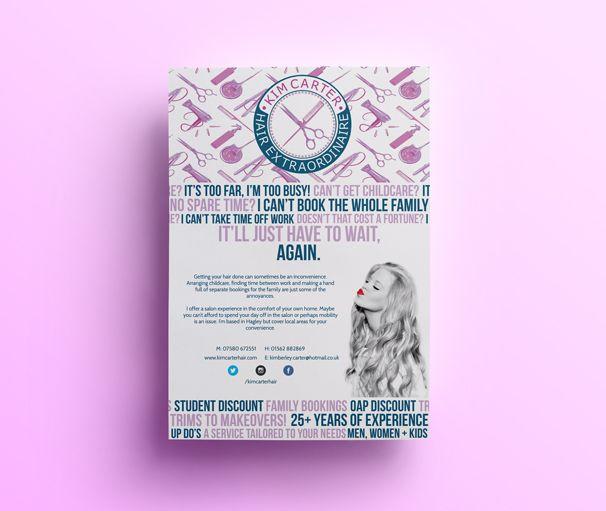 Leaflet design for Kim Carter