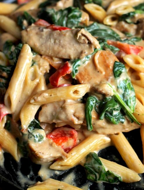 Cheesy Chicken and Pasta - Bunny's Warm Oven