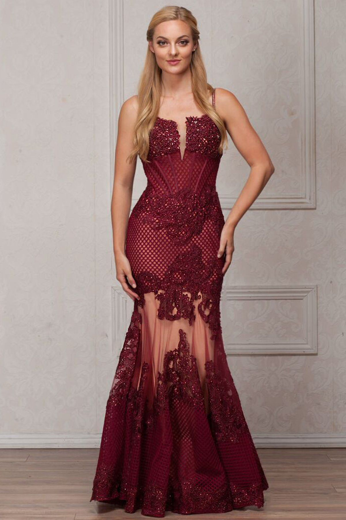 Elegant long evening gowns ac in wedding prom and