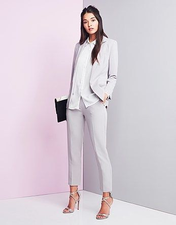ee42cfb1d006be Womens light grey unique 21 tailored mid rise cigarette pants from Lipsy -  £28 at ClothingByColour.com