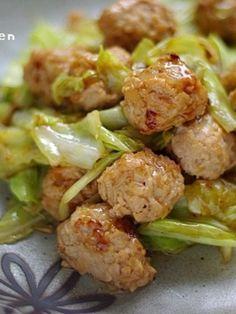 肉団子とキャベツのオイスター炒め by Mayu* | レシピサイト「Nadia ...