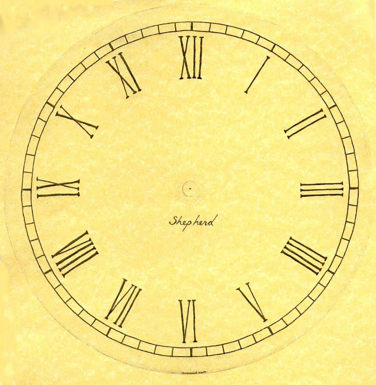 Plantillas para hacer Relojes de Pared.Esferas para ...