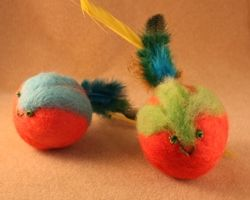 Items you 39 ll need to make your felted catnip ball for Felt cat toys diy
