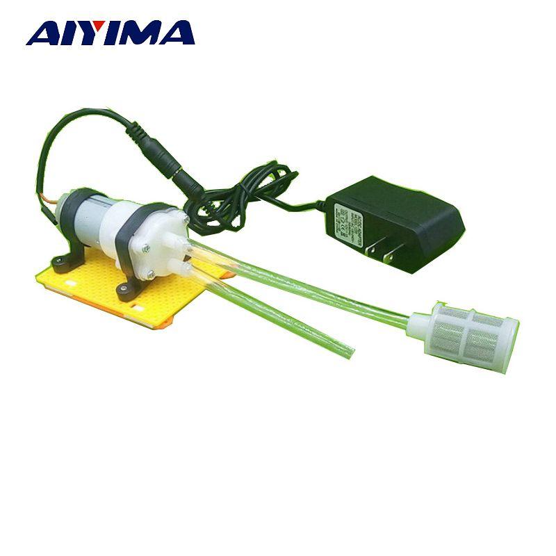 AIYIMA 1 set 12V DC Diaphragm Water Pump Device Mini Self-priming Pumper Set 385 Computer Water Cooling Tank