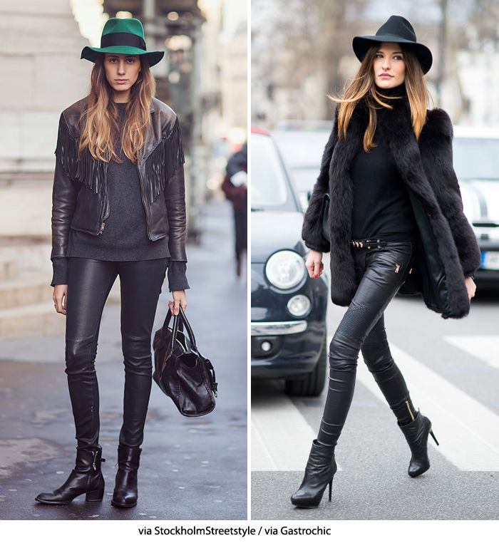 Blue is in Fashion this Year: Black & Leather Perfection