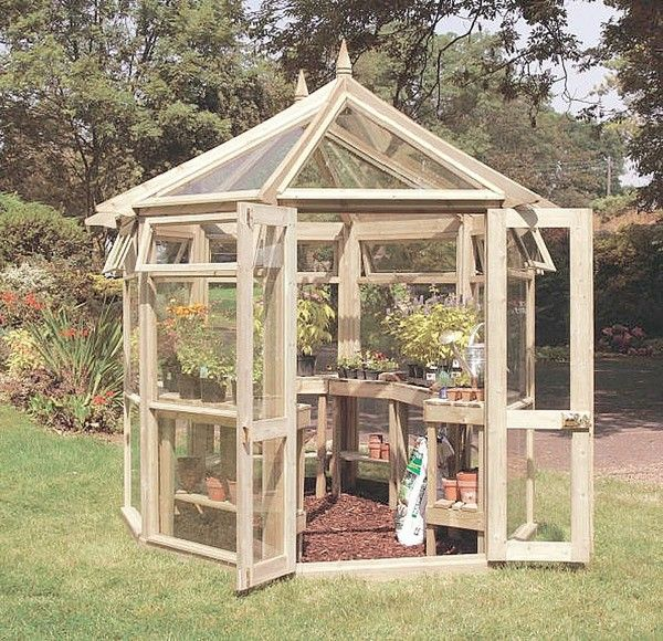 Greenhouse for the backyard or garden | Wooden greenhouses ...