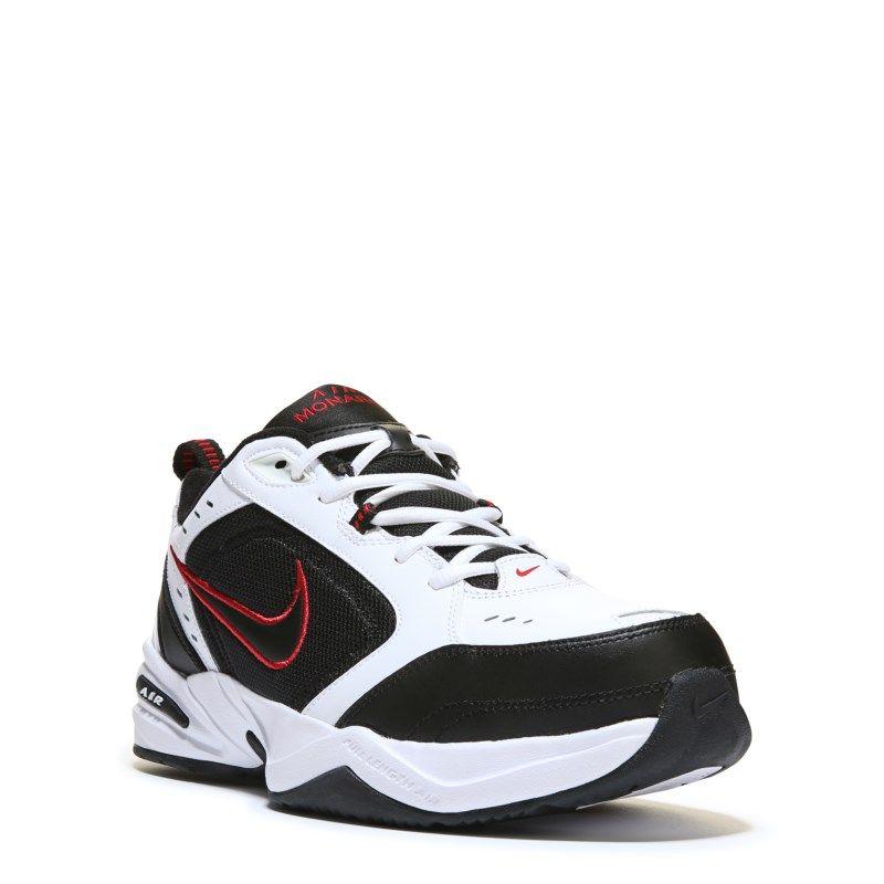 Black · Nike Men's Air Monarch IV X-Wide Training Shoes (White/Black/Red