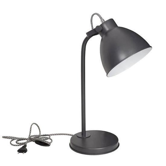 Brooklyn Lampe En Metal O17 5 X H 50 Cm Noir E14 40w En 2020 Lampe Pipistrello Lampes De Table Et Abat Jour Ovale